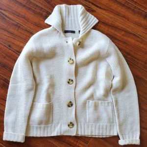 Folio New York 100% Cashmere Cardigan Sweater M